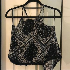 Nasty Gal Bandana Tank with Tie Closure